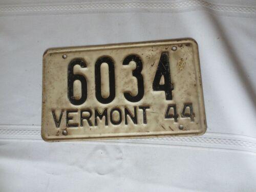 1944 VERMONT LICENSE PLATE 6034