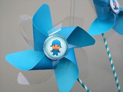 pocoyo  paper pinwheels  10 pcs  favors Party Deco centerpiece birthday
