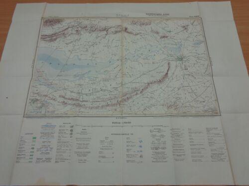"WW2 (1941) German NORTH AFRICA Map ""KEBILI"" (TEBAGA GAP - Battle of MARETH LINE)"