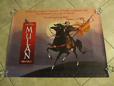 Mulan movie poster - 30 x 40 inches - Walt Disney - original - Horse style