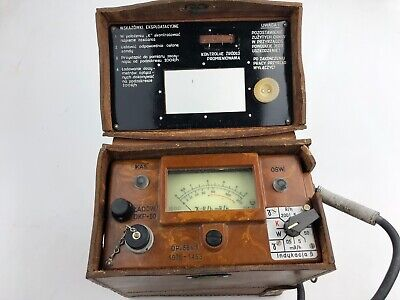 Dp66 Military Radiation Detector Geiger Counter With Case Vintage