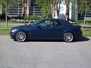 2004 BMW M3 Convertible Blue on Blue