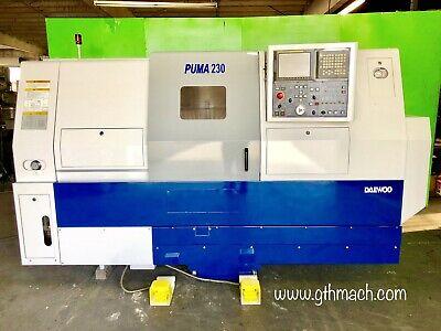 Daewoo Puma 230 Lsa Cnc Lathe Turning Center Sub Spindle Fanuc 18i-t Control