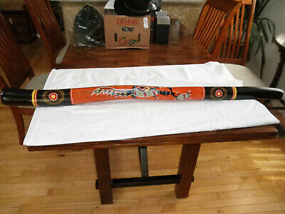 "Australian Souvenir Aboriginal Didgeridoo 48"" hand painted background Dot style"