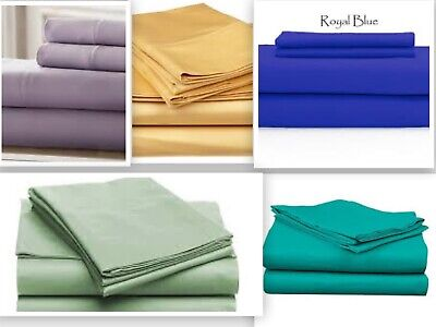 - Persian 1800 Collection Set of Two Pillow Cases - Five colors Queen / King Soft
