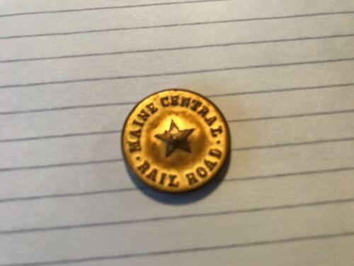 Antique Brass Maine Central Railroad Uniform w/Star Button