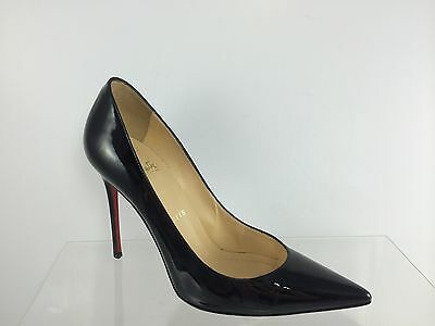 Christian Louboutin Womens Decollete 554 100 Patent Leather Black  Shoes 38.5