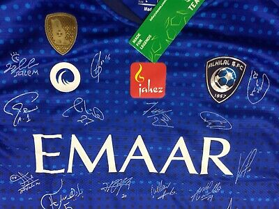 AL HILAL Saudi Arabia FC Hand Signed Shirt AFC Champion 2020 Autographs Original image