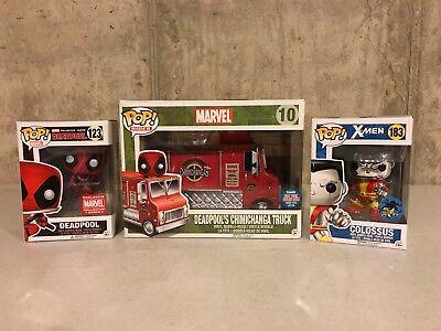 Funko Pop  Marvel Deadpool Nycc Exclusive Chimichanga Truck   Comikaze Colossus