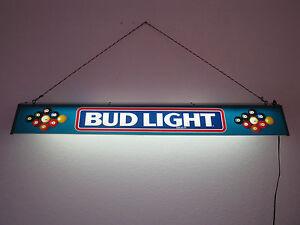 vintage bud light pool table lamp large beer sign electric budweiser. Black Bedroom Furniture Sets. Home Design Ideas