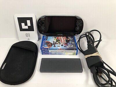 Sony PlayStation Vita PSVita Handheld Console Bundle With 3 Games Mint Condition