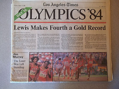 84 Olympics  Los Angeles Times   Aug 12
