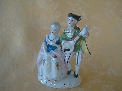 Vintage Occupied Japan Figurine Colonial Couple ~ Playing Music