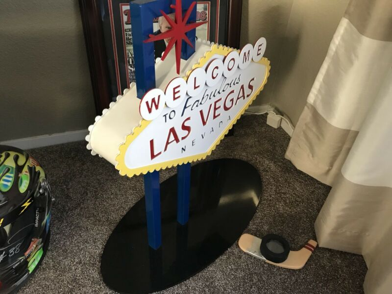 Nascar Las Vegas Trophy Sign Award Casino