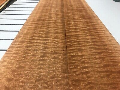 Quilted Sapele Wood Veneer 2 Sheets 122 X 6 514d