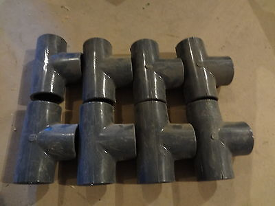 Lot Of 8 Spears 1-12 Tee Fittings Sch 80 Pvc Slip 801-015