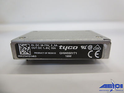 Tyco Qhw050y71 Isolated Module Dc Dc Converter 18w Indc 36-75v 2.5a Outdc 1.8