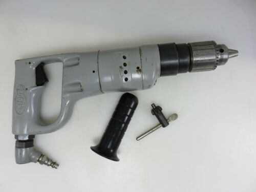 """Sioux Pneumatic Air Drill 3/8"""" Jacobs Chuck 1000 RPM Model 1465 Made In USA"""