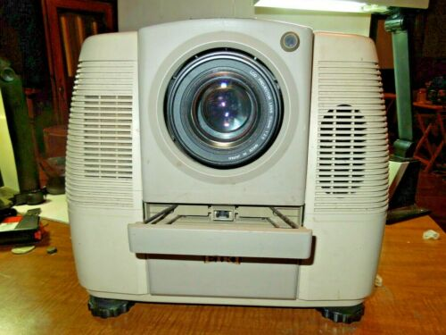Eiki LC Color Video Movie Projector LC-120 w/ VHS VCP - Tested & Working ~ RARE!