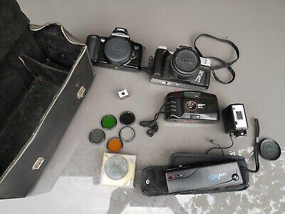 4 Sammler-Kameras, Canon, Nippon und 6 optische Linsen zvk - Dachbodenfund gebraucht kaufen  Karlsruhe