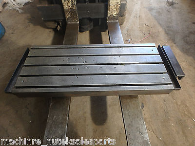 45.25 X 18-78 X 5.5 Steel Welding T-slotted Table Cast Iron 5 Slot