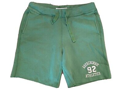 Abercrombie Mens Sweat Pants Shorts Green Large L