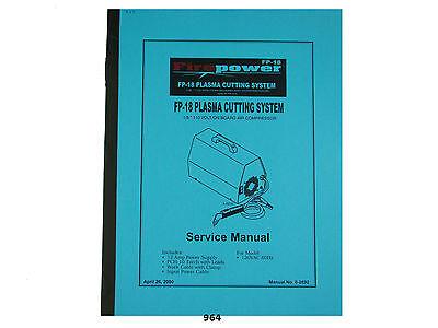 Thermal Dynamics Firepower Fp-18 Plasma Cutter Service Manual 964