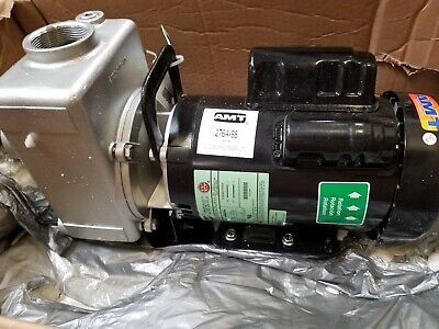 Amt Pump 276a-98 Self Priming Centrifugal Pump Cast Stainless Steel 3 Hp 230v