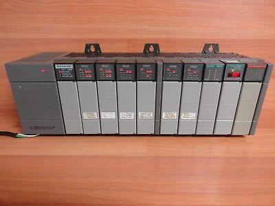 Allen Bradley Slc 500 1746-a10 Full 10 Slot Rack 1746-p2 502 Cpu 917-0050