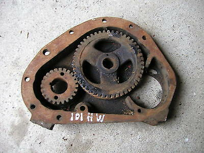Massey Harris 101 Tractor Main Engine Motor Front Cover Cam Gear Drive Gear