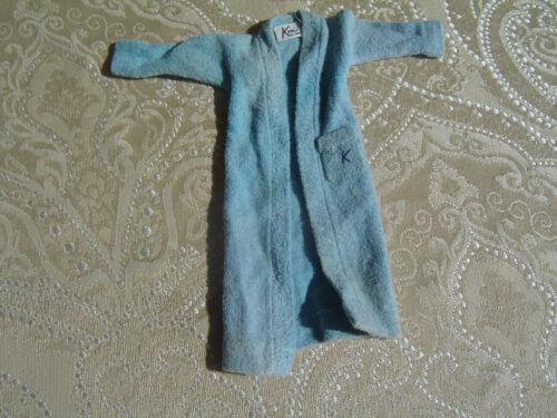 Vintage 1961 Ken doll blue terry cloth Robe with K monogram #784
