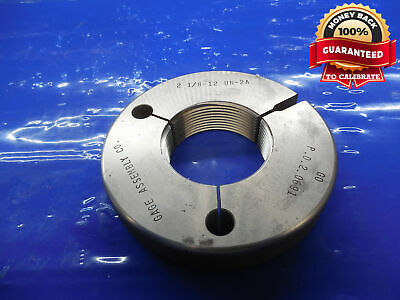 2 18 12 Un 2a Thread Ring Gage 2.125 Go Only P.d. 2.0691 2.1250-12 N-2a Gauge