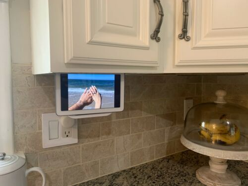 Google Home Hub Under Cabinet Mount Black or White,   Ultra Low Profile