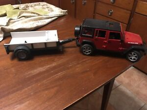 Bruder Jeep Rubicon with trailer