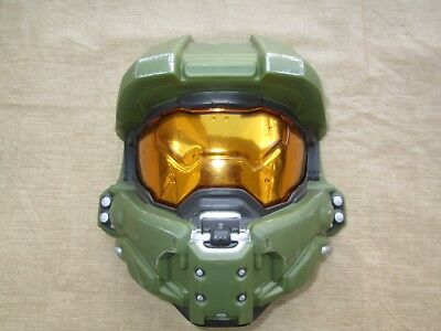 Used, LICENSED HALO MASTER CHIEF CHILD FACE MASK HALF HELMET COSTUME ACCESSORY Cosplay for sale  Laredo