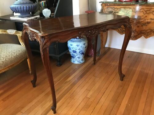 American Rococo Style Carved Table desk/console table