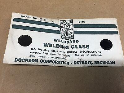 Vintage Dockson Weldgard Welders Goggle Round Lens Welding Shade 6 18-6 Nos