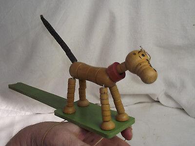 Hund Marionette D.R.G.M. 1420917 Holz