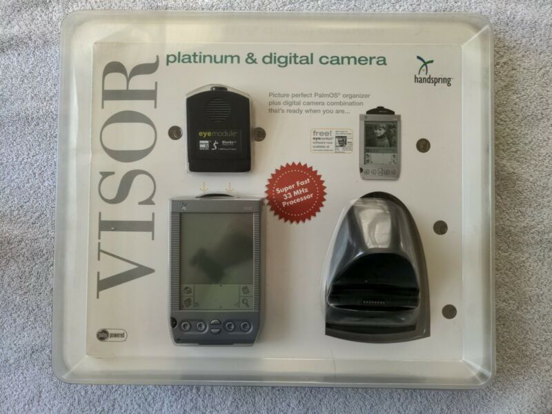 Vintage Handspring Visor Platinum + Digital Camera Palm OS Organizer Bundle NEW