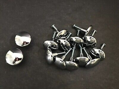 Great Lot of 14 Silver Chrome Round Door Drawer Cabinet Knobs (MCM / Art Deco) Art Deco Cabinet Knobs