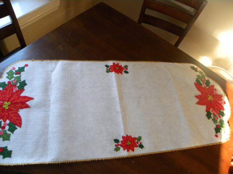 Vintage Christmas Handmade Table Runner