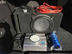 "12"" Infinity Sub in Ported Box, Amp, Capacitor, and all wiring"
