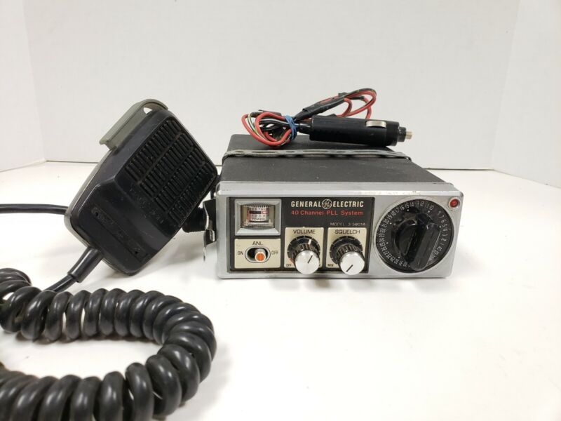 General Electric 40 Channel PLL System Model 3-5801A CB Radio Transceiver