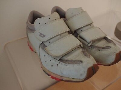 DIESEL Rum Off White Leather Strap Closure Fashion SNEAKERS Mens 9 Vintage Style