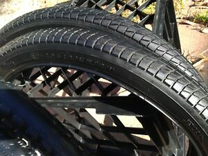 "Pair 20"" bmx bike tyres"