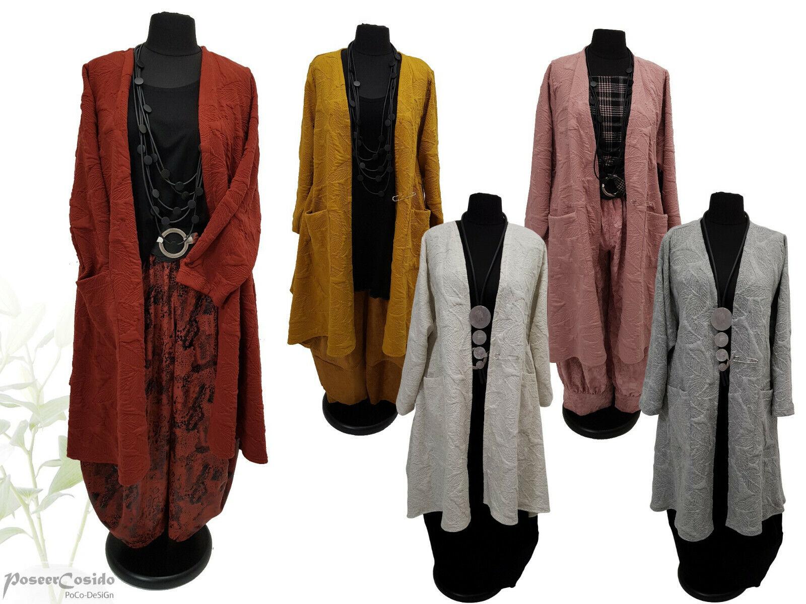 PoCo LAGENLOOK Strick Shirt Tunika Mantel Jacke XL-XXL-XXXL 46 48 50 52 54 56 58