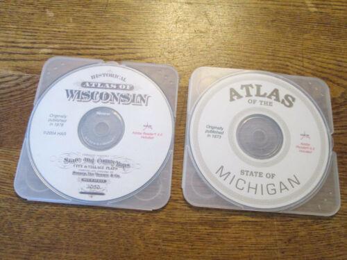 1878 atlas of wisconsin and 1873 atlas of michigan dvds