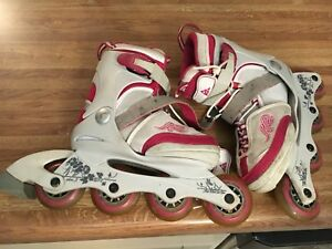 K2 girls  in-line skates adjustable size 1-5