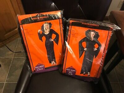 Sparkling Spiderella Womens Halloween Costume 1 piece dress w/collar New