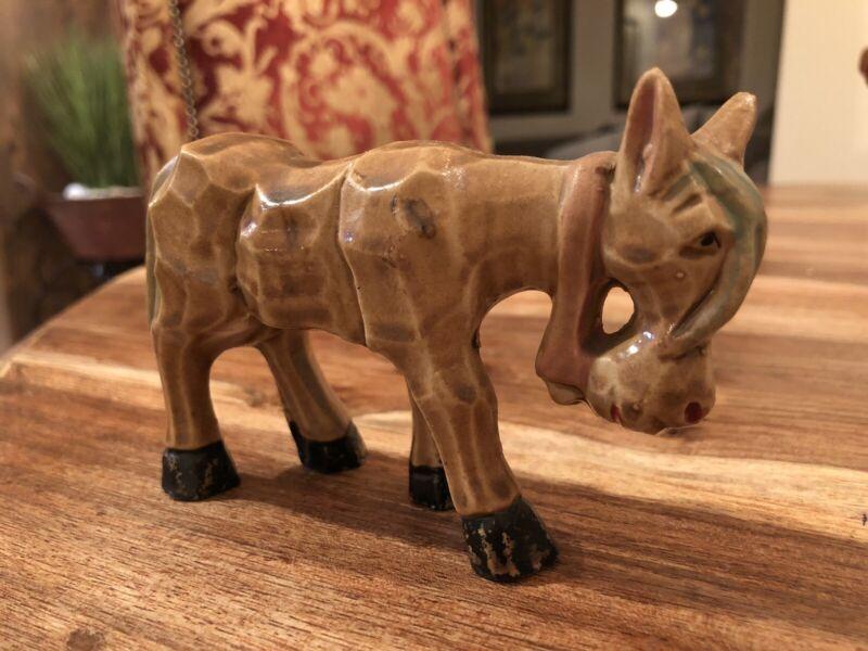 Vintage Ceramic Donkey Burro Figurine - Made In japan